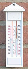 Max-min wall thermometer